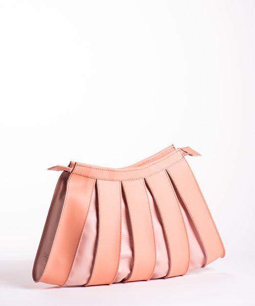 Borsa Nica big con tracolla staccabile, in pelle colore rosa